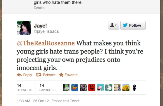 roseanne barr for trans-misogynist-in-chief | leftytgirl - photo#7
