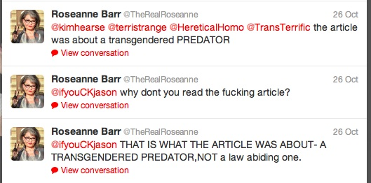 roseanne barr for trans-misogynist-in-chief | leftytgirl - photo#14