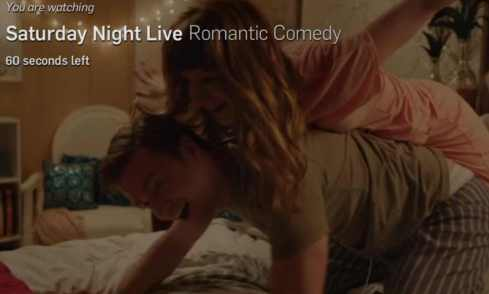 """Screen shot from SNL """"Romantic Comedy"""""""